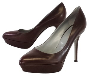 Sergio Rossi Brown Leather Pointed Toe Pumps