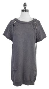 3.1 Phillip Lim short dress Grey Wool Short Sleeve Sweater on Tradesy