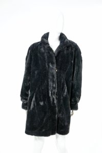 St. John Reversible Faux Fur 3/4 Length Jacket Winter Couture Fur Coat