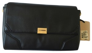 Pour La Victoire Astrid Black Leather Crossbody Clutch