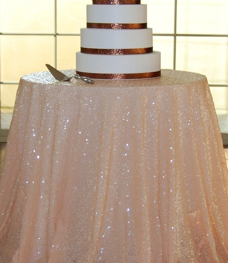 120 Round Peach Sequin Tablecloth Tradesy