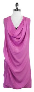 Diane von Furstenberg short dress Magenta Silk Draped on Tradesy