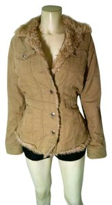 Roxy Fur Lined Size Small Button Front Winter P1792 Coat