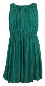 Theory short dress Green Silk Sleeveless on Tradesy