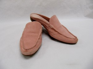 Franco Sarto Suede Mules Pale Rose Pink Flats