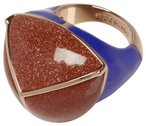 Eddie Borgo Eddie Borgo Blue And Metallic Orange Large Cocktail Ring New With Size 6.5 Tags