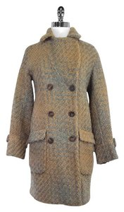 Comptoir des Cotonniers Grey Tan Wool Coat