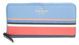 Kate Spade Kate Spade Bluti Multi Color Striped Continental Wallet New With Tags