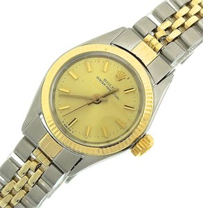 Rolex Ladies Rolex Oyster Perpetual Two-Tone 14K Gold Stainless 6619 Jubilee 26mm Watch