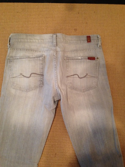 7 For All Mankind Seven Seven Skinny Roxy Skinny Spring Spring Transitional Piece Size 28 28 Skinny Jeans-Light Wash