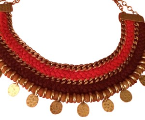 Lucky Brand Lucky Brand Resin Woven Bib Necklace