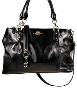 Coach Colette Colette Carry All Cross Body Satchel in Black