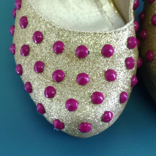 Ami Gold And Pink Pumps