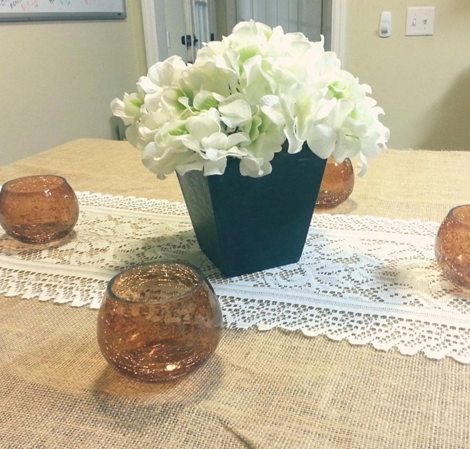 Brand new wood centerpiece planters containers