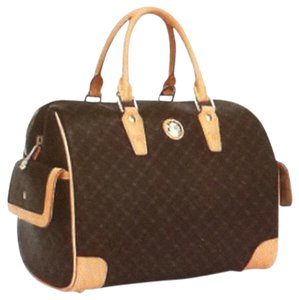 Rioni Italia Boston Satchel in Brown/Tan