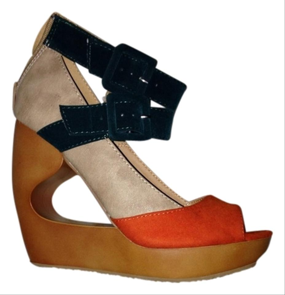qupid wedges size 7 5 6 qupid wedges tradesy