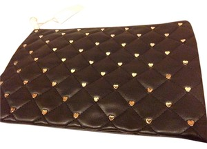 deux lux New with tag Deux Lux Black quilted With Gold Hearts