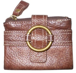 Fossil pebbled leather bi fold