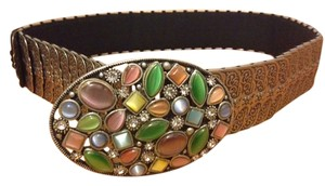 Silver link belt with Jewel Clip