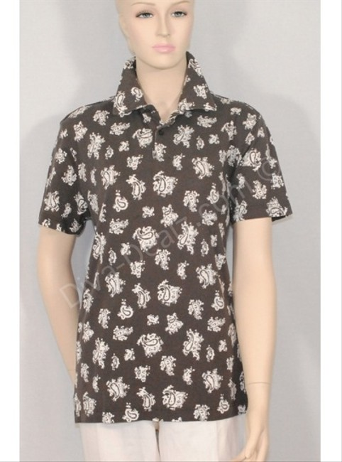 Etro Floral Paisley Polo Button Down Shirt BROWN