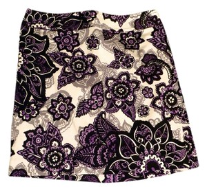 Ann Taylor LOFT Skirt Black/Purple