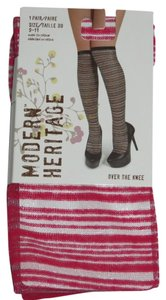 Modern Heritage New Size 9-11 Modern Heritage Over The Knee Socks