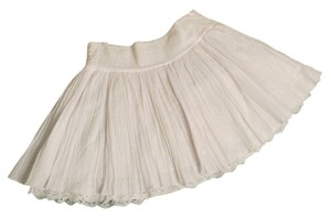 bebe Lace Trim Skirt white