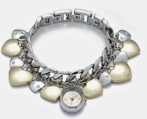 Anne Klein Priced reduced until 10% for a limited time..with Bonus-Two Tone Heart Charm Link Bracelet