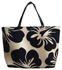 Kate Spade Tory Burch Tote in Black Off White