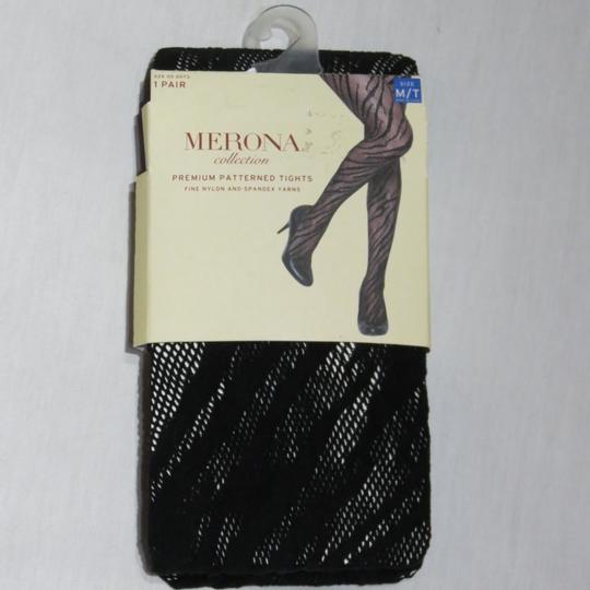 Merona New Size M / T Merona Premium Patterned Black Tights