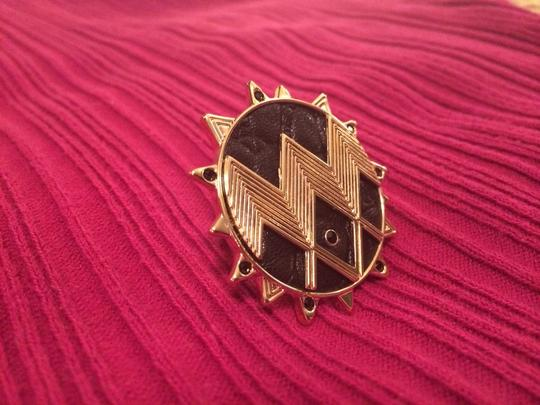 House of Harlow 1960 Gold & Black Sun Ring
