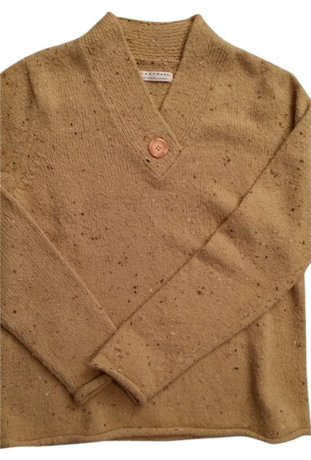 Item - Very Simple Light Weight Tan with Multicolor Weave Sweater