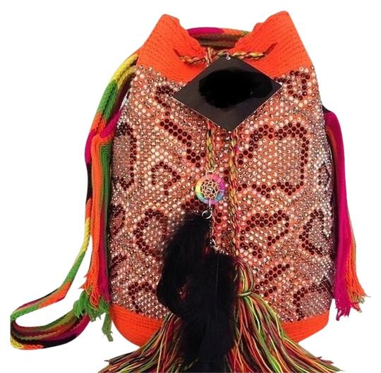 Preload https://item1.tradesy.com/images/wayuu-tribe-by-women-orange-with-black-opal-crystals-cotton-shoulder-bag-788495-0-0.jpg?width=440&height=440