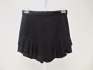 Ella Moss Stretch Ladean Above Knee Ruffle Mini Skirt Black
