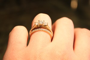 Other Pave Three Stone Wedding Set