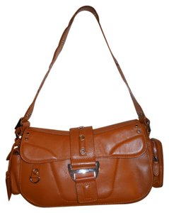 Antonio Melani Leather Studded Shoulder Bag