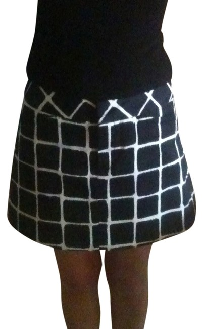 Trina Turk Mini Skirt Black/White