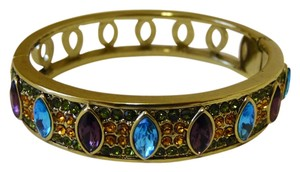 "Heidi Daus Heidi Daus ""Armed with Charm"" Crystal Hinged Bangle Bracelet M/L (fits 6 3/4 to 7 1/4 wrist)"