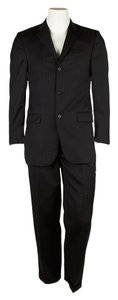 Burberry Burberry Mens Black Wool Pant Suit, Size 36 (54945)