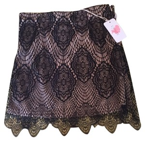 Necessary Clothing Mini Lace Lace Black Lace Black Lace Mini Skirt
