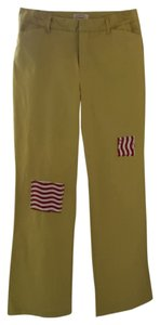 Talbots Artist Patched Patched Chinos Anthropologie Style Meg Ryan Style Casual Green Chinos Christmas Comfy Christmas 8 Khaki/Chino Pants Green Apple