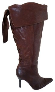 Bakers Distressed Pointed Toe Brown Boots