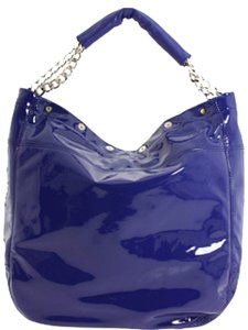Furla Patent Leather Tote in Blue