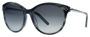 Chloé Chloe Striped Grey Round Sunglasses
