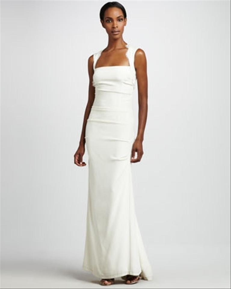 Nicole miller sleeveless cut out gown wedding dress tradesy for Nicole miller wedding dresses nordstrom
