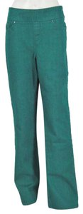 Denim & Co. Pull On Flare Pants Jade Tone