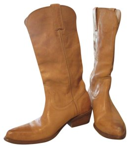 Frye Cowboy Leather Pointed Toes camel Boots