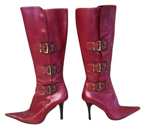 Charles David Leather Red Boots