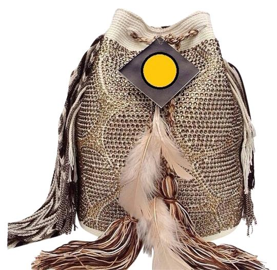 Preload https://img-static.tradesy.com/item/788952/wayuu-tribe-almond-with-smokey-brown-and-amber-color-crystals-cotton-shoulder-bag-0-0-540-540.jpg