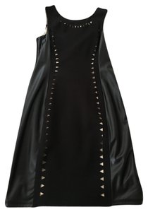 A.B.S. by Allen Schwartz Leather Edgy Sleeveless Dress
